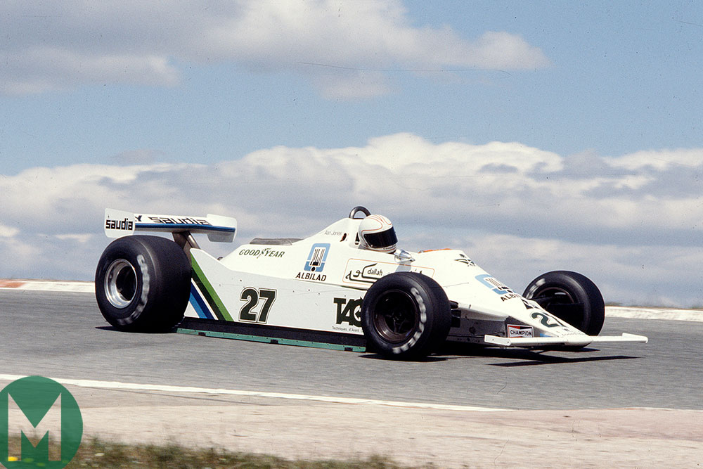 The classic Williams FW07 making its debut at Jarama in 1979