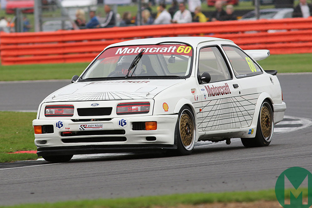 Mark Wright in a RS500 Ford Sierra from the Dunlop Saloon Car Cup