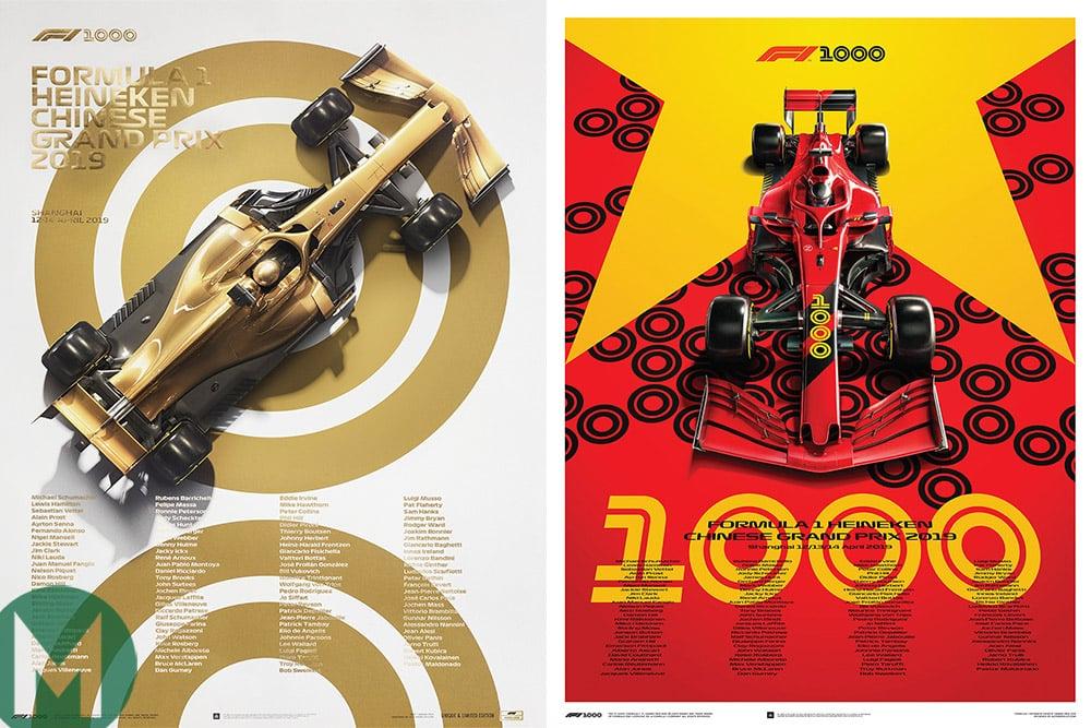 1000th GP posters Automobilist
