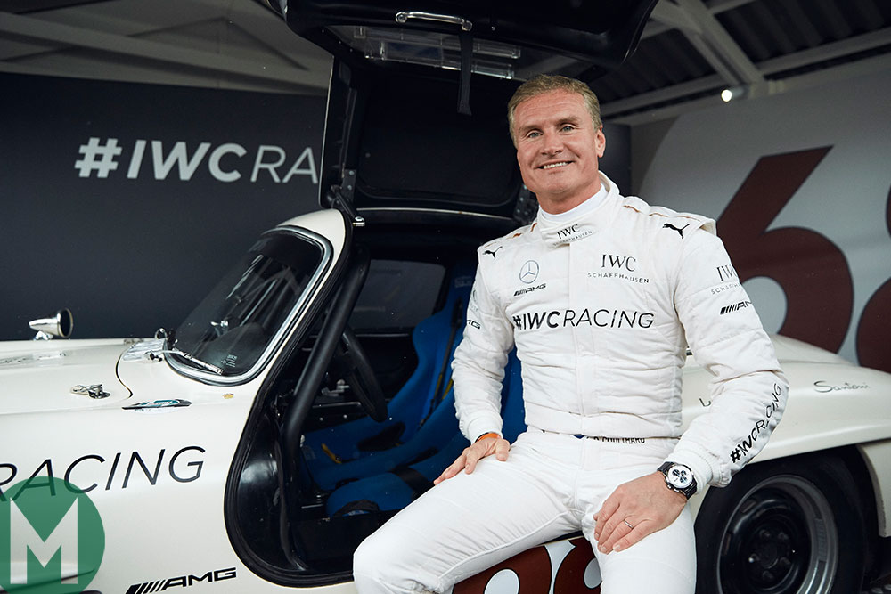 David Coulthard with the 300SL Gullwing
