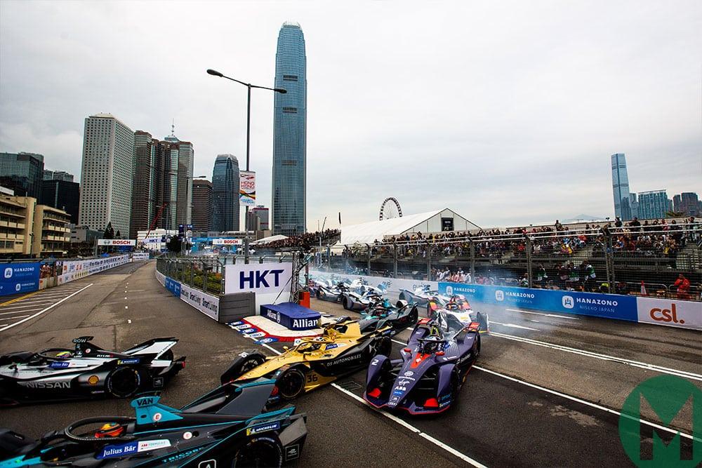 The start of the 201§8-19 Hong Kong ePrix