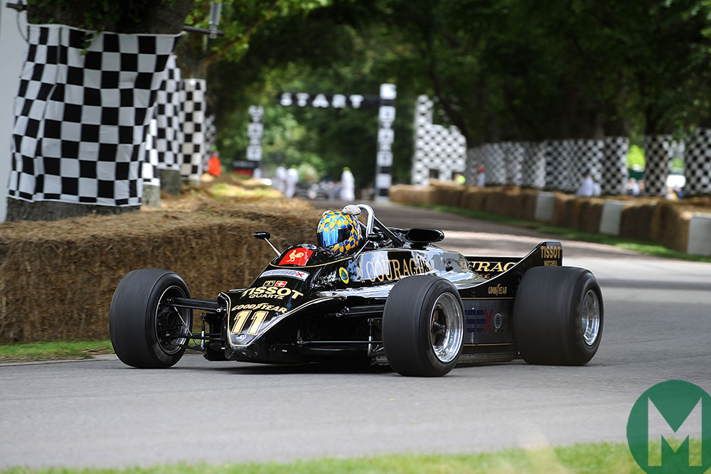 The Lotus 88 at the 2012 Goodwood Festival of Speed