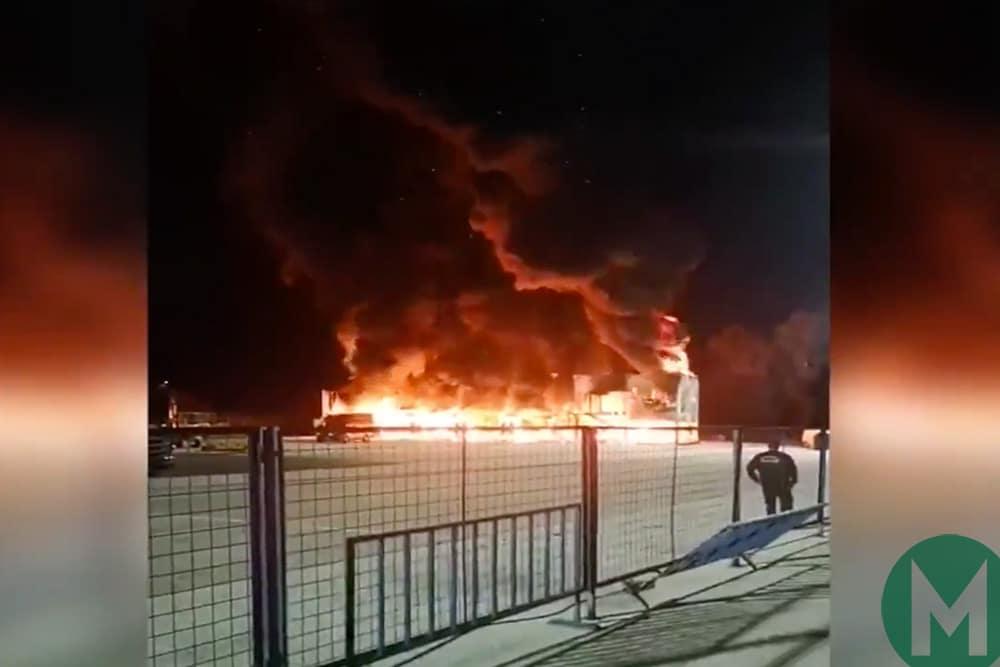 MotoE fire