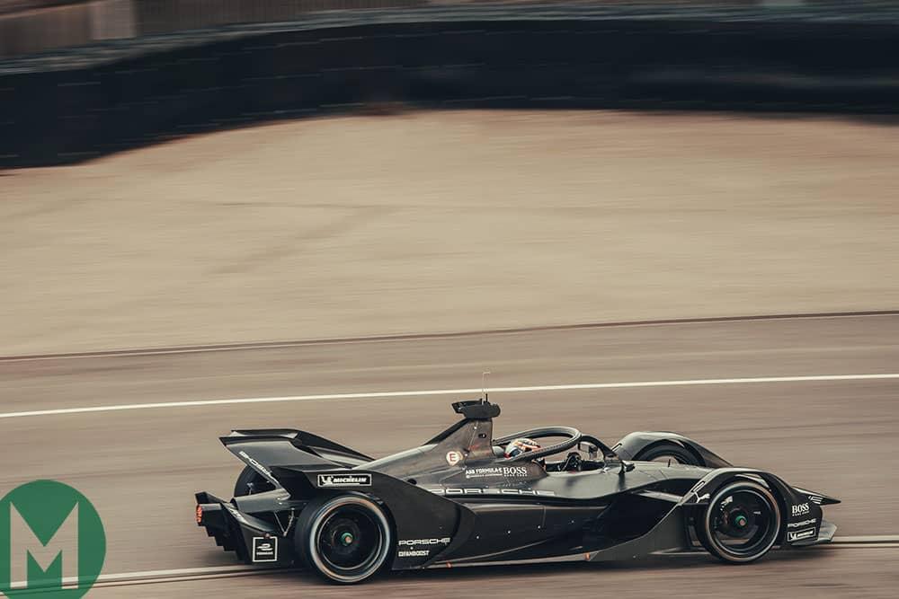 Porsche Formula E car shakedown