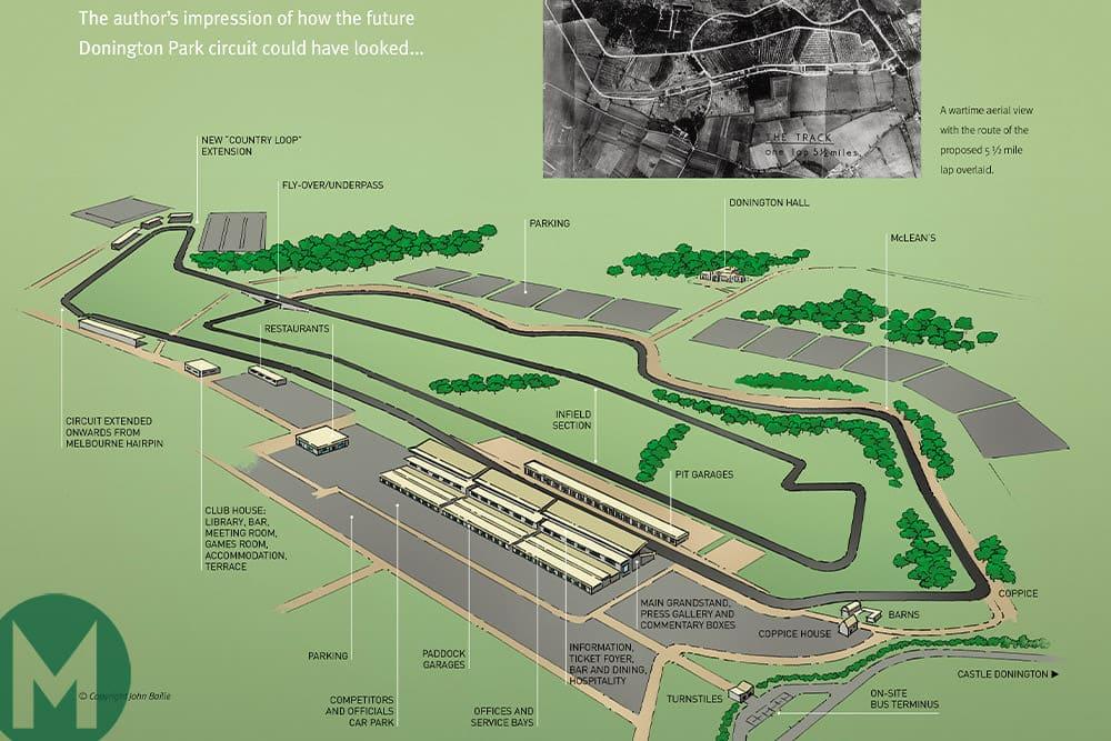 Donington Park 1960 plan