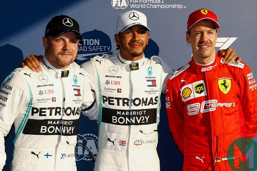 2019 Australian GP podium qualifying