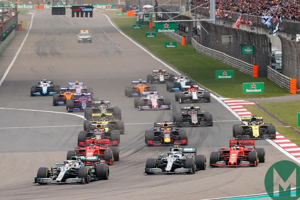 2019 Chinese Grand Prix start
