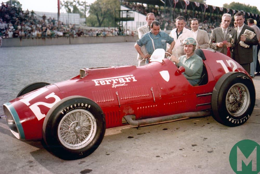 Alberto Ascari took part in the 1952 Indianapolis 500 in a 4.5-litre Ferrari 375