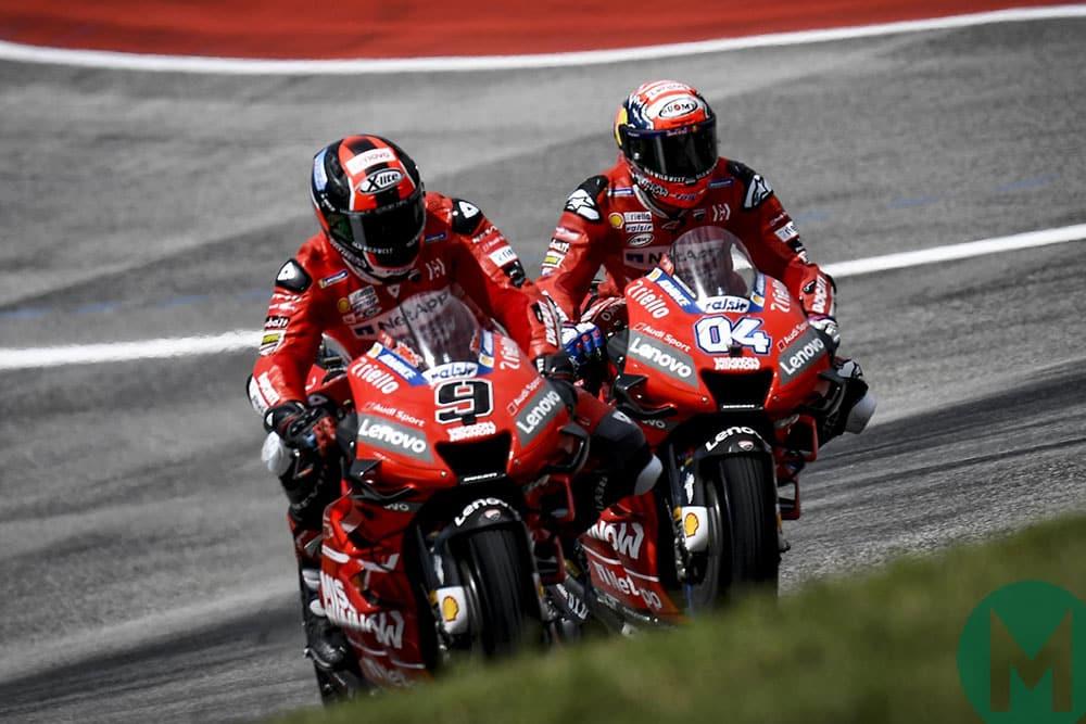 Andrea Dovizioso Danilo Petrucci Ducati MotoGP COTA 2019