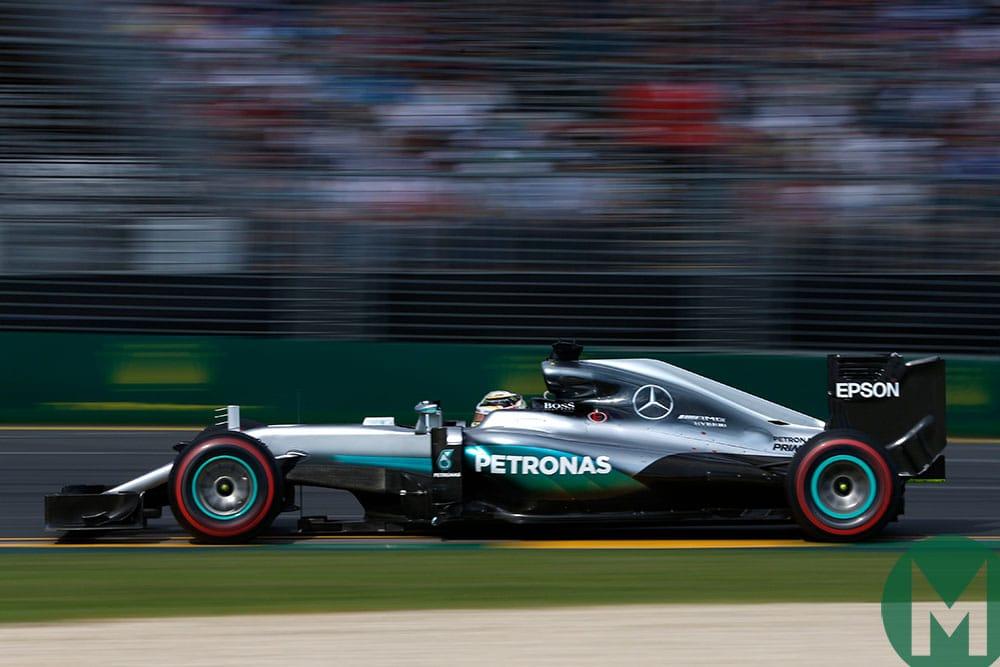 Lewis Hamilton in the 2016 Mercedes W07