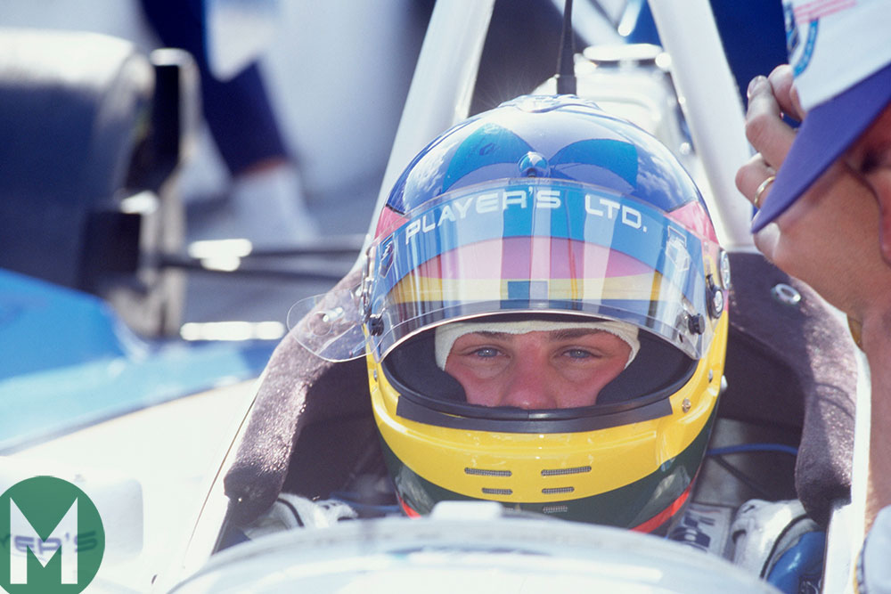 Jacques Villeneuve in his 1995 Reynard Team Green Indycar at Miami