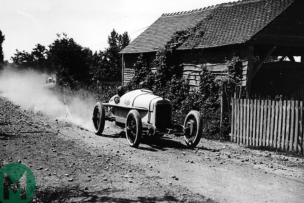 In 1921 San Francisco-born Jimmy Murphy won the French Grand Prix at rock-strewn Le Mans for Duesenberg, the first GP held for the 3-litre 'International Formula' regulations