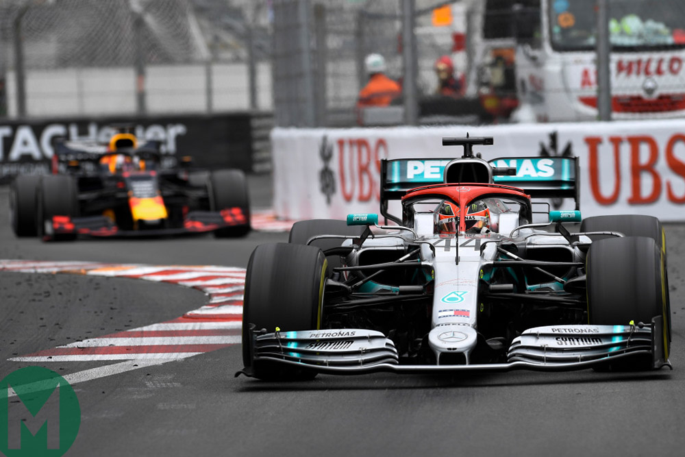 Hamilton tyre graining at the 2019 Monaco Grand Prix