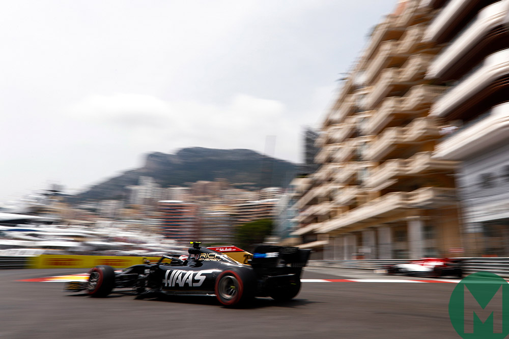 Kevin Magnussen qualifying for the 2019 Monaco Grand Prix