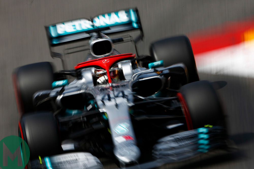 Lewis Hamilton qualifying for the 2019 Monaco Grand Prix