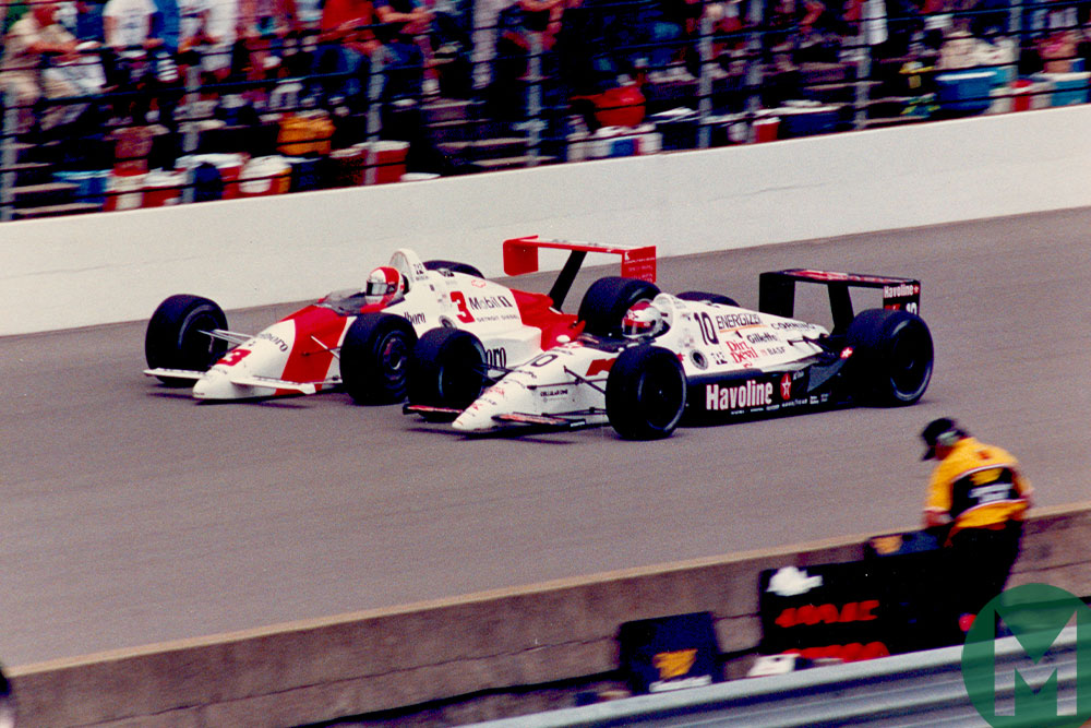1991 Indy 500 Rick Mears Michael Andretti