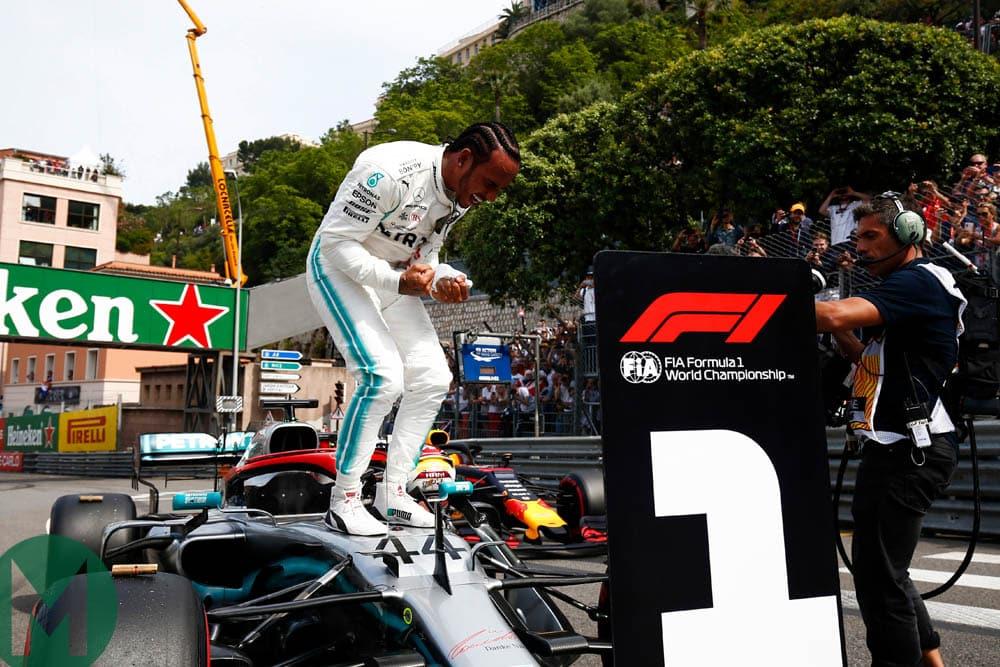 Lewis Hamilton wins pole at the 2019 Monaco Grand Prix