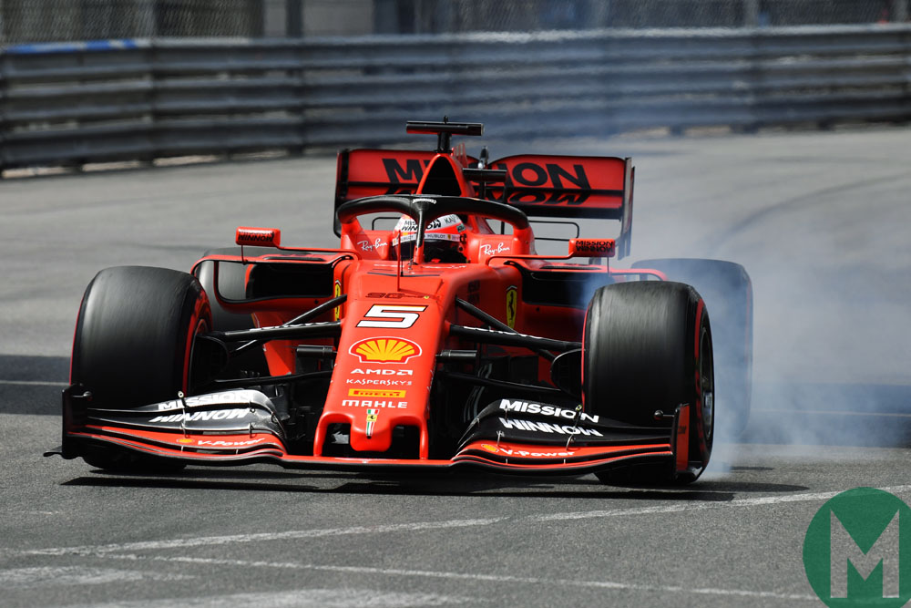 Sebastian Vettel qualifying for the 2019 Monaco Grand Prix