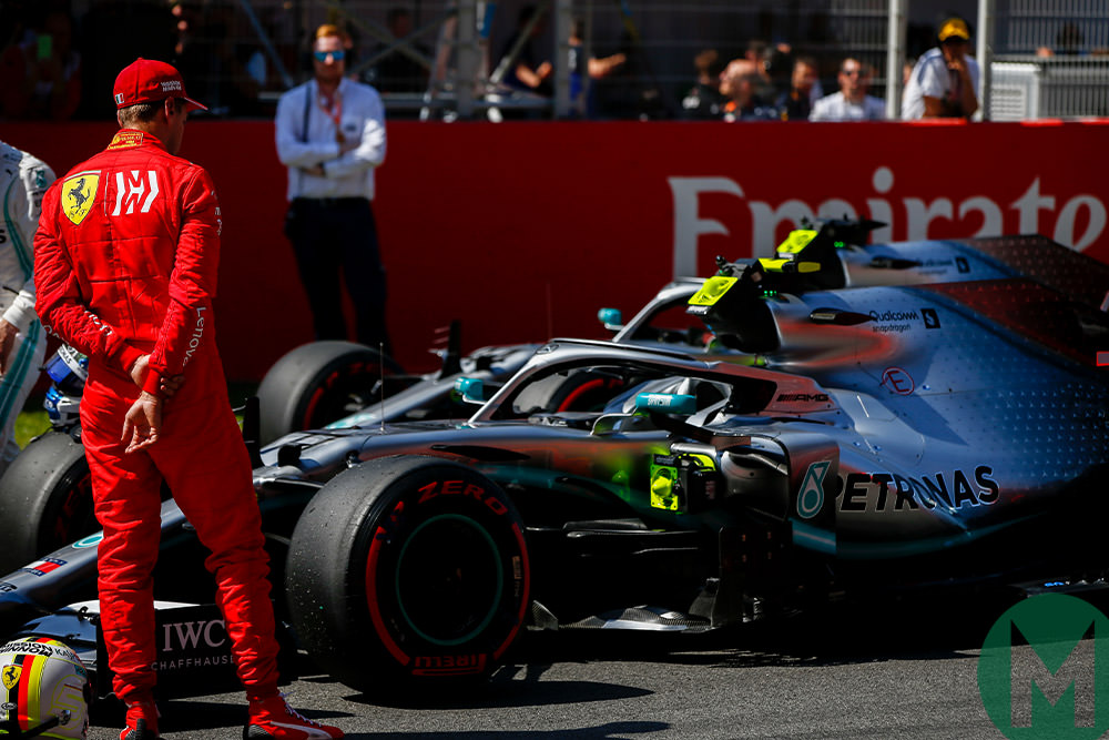 Vettel looks at Ferrari 2019 Spanish F1 Grand Prix
