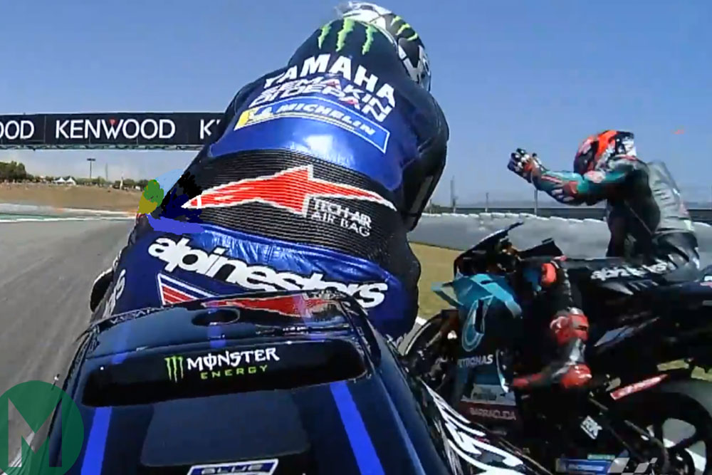 Vinales in a narrow miss with Quartararo for the 2019 MotoGP Catalan GP