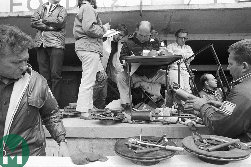 Ford brake rotors at Le Mans in 1966