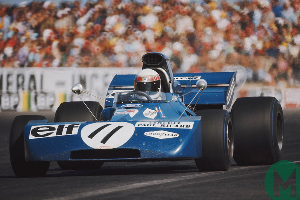 Jackie Stewart at the first French Grand Prix to be held at Paul Ricard in 1971