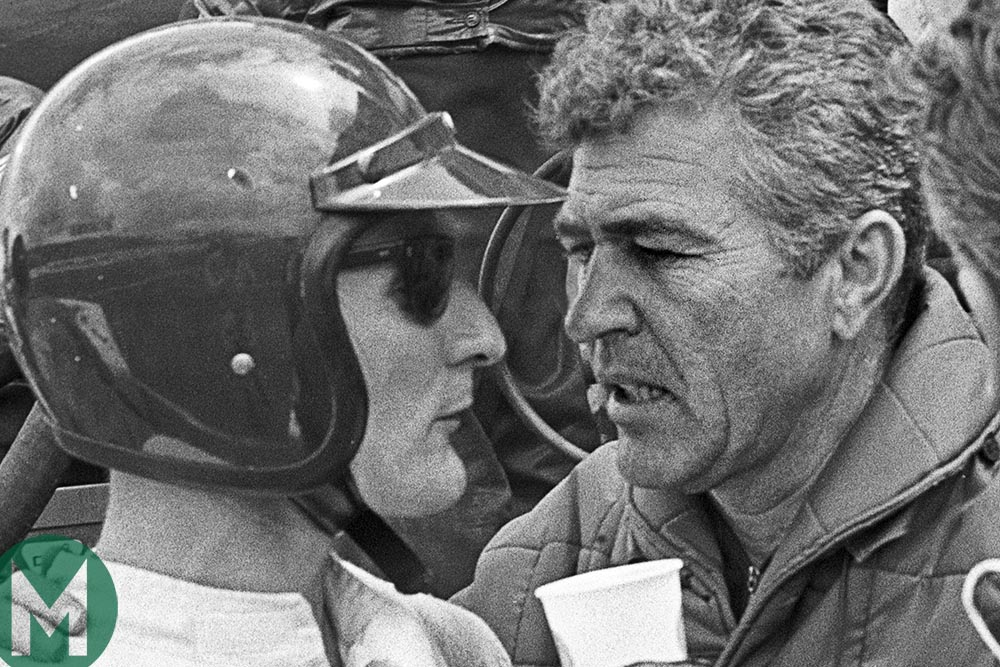 Ken Miles and Carroll Shelby at Le Mans in 1966