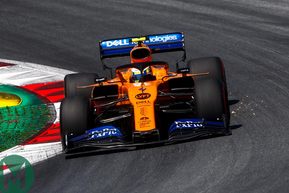 Lando Norris during qualifying for the Austrian Grand Prix