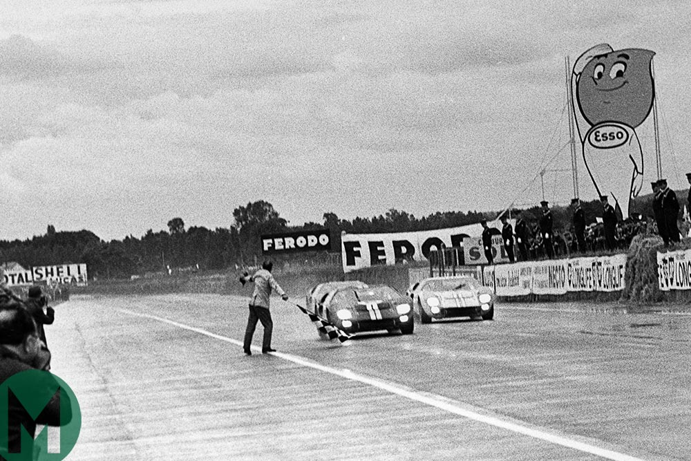 Ford's attempted dead heat victory at Le Mans in 1966