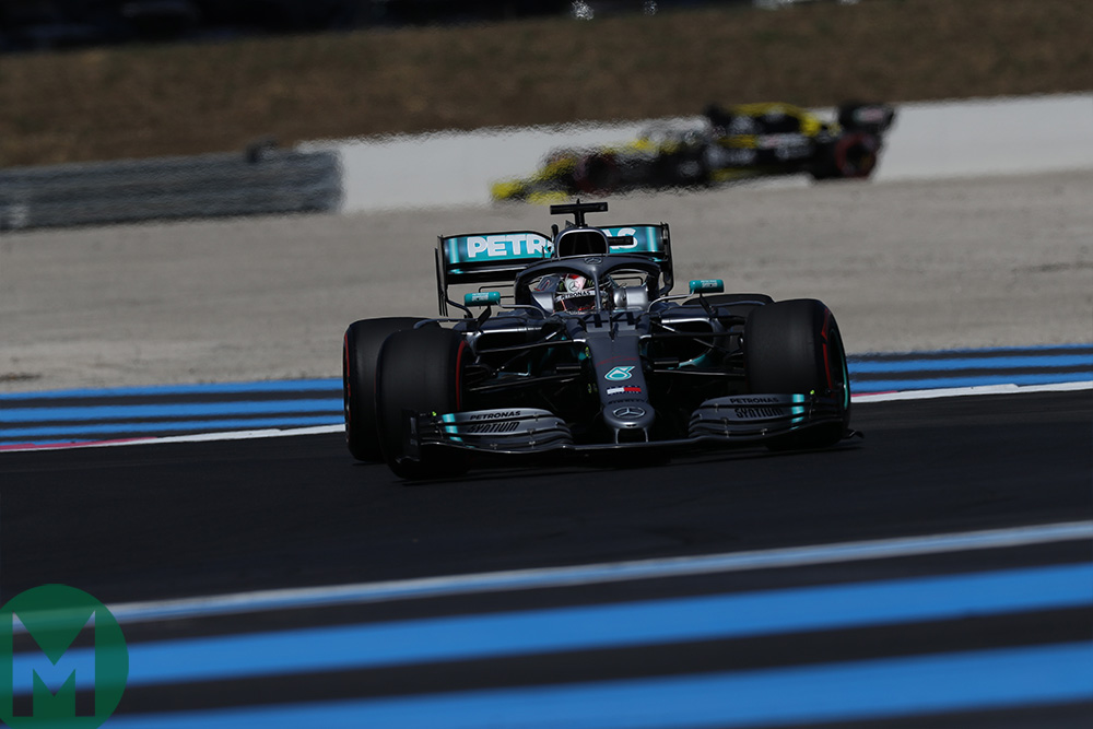 Lewis Hamilton on track in qualifying for the 2019 French Grand Prix