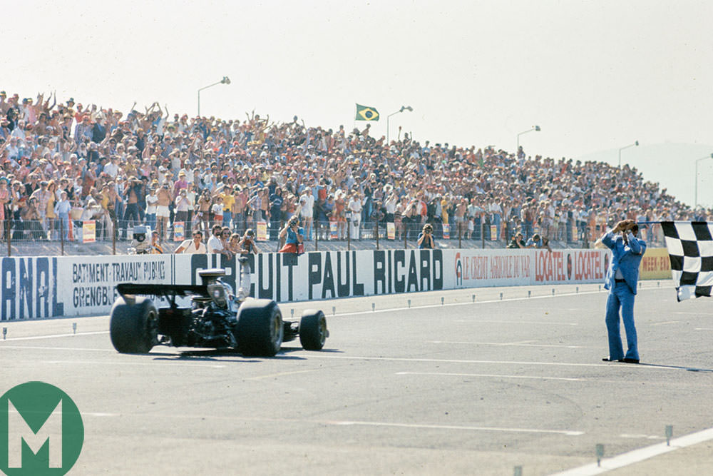 Ronnie Peterson wins the 1973 French Grand Prix