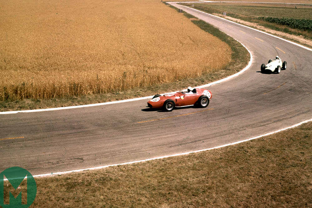 Phil Hill leads Stirling Moss, Reims 1959