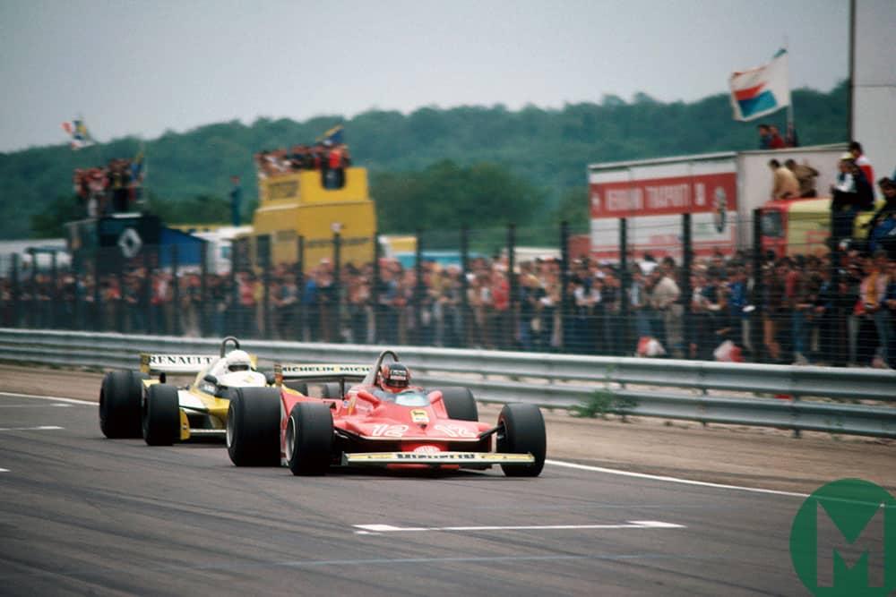 Villeneuve beats Arnoux to second place in Dijon 1979