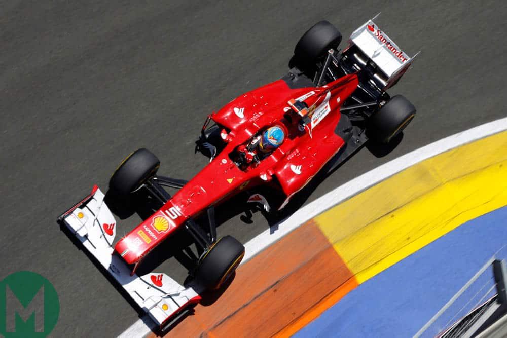 Alonso Ferrari 2012 European Grand Prix at Valencia