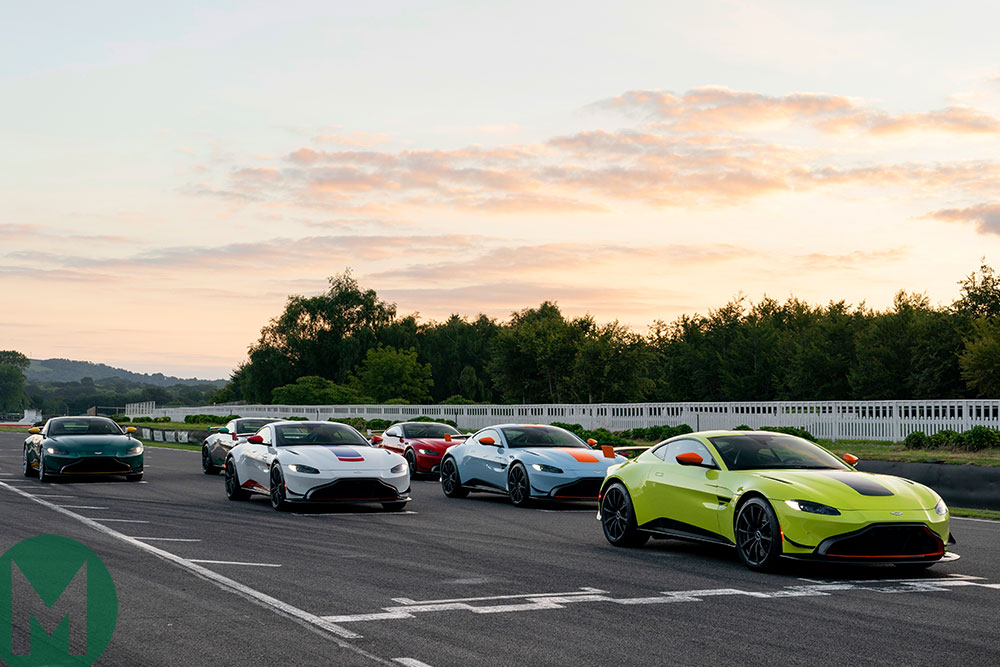Each of the six liveries are designed to pay tribute to a famous racing Aston Martin