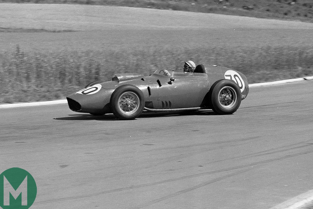 Jean Behra at the 1959 French Grand Prix at Reims