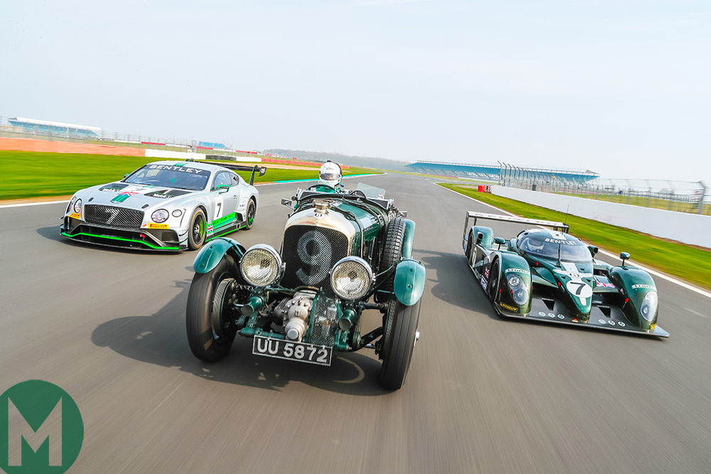 Trio of Bentleys on track