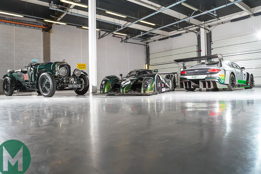 Three eras of racing Bentleys
