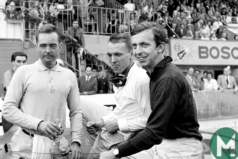 The Ferrari trio of Brooks, Gurney and Hill reflect on the race