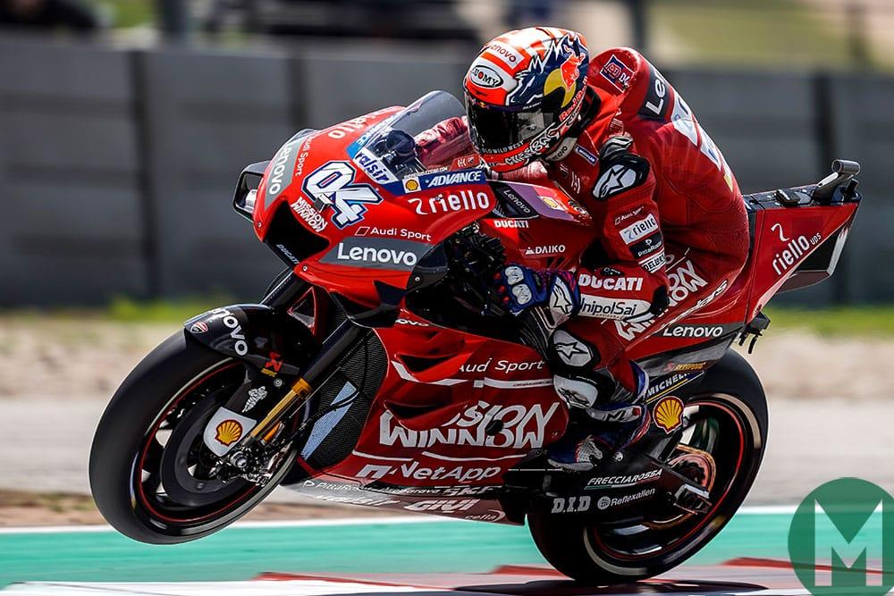 Andrea Dovizioso on the Ducati GP19