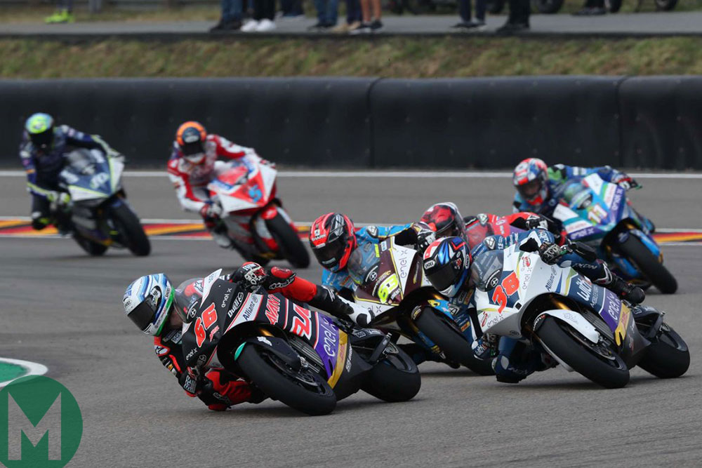German MotoE 2019 Niki Tuuli leads Bradley Smith and Mike Di Meglio