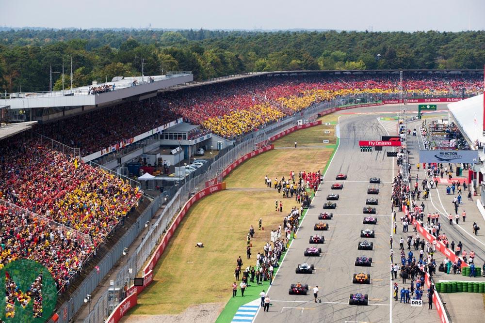Starting grid at Hockenheim for the German Grand Prix