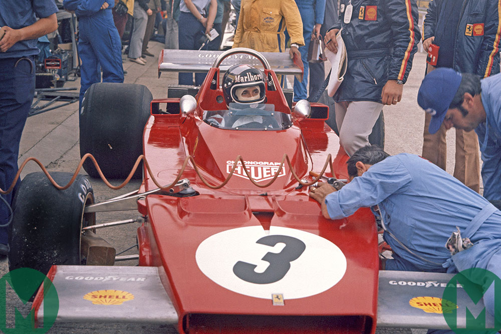 Ferrari struggled in 1973 - here Jacky Ickx is behind the wheel at Silverstone