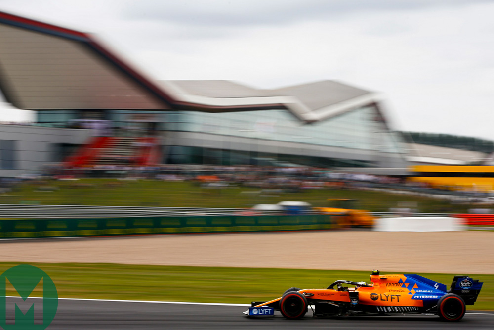 Lando Norris qualifying at the 2019 British Grand Prix