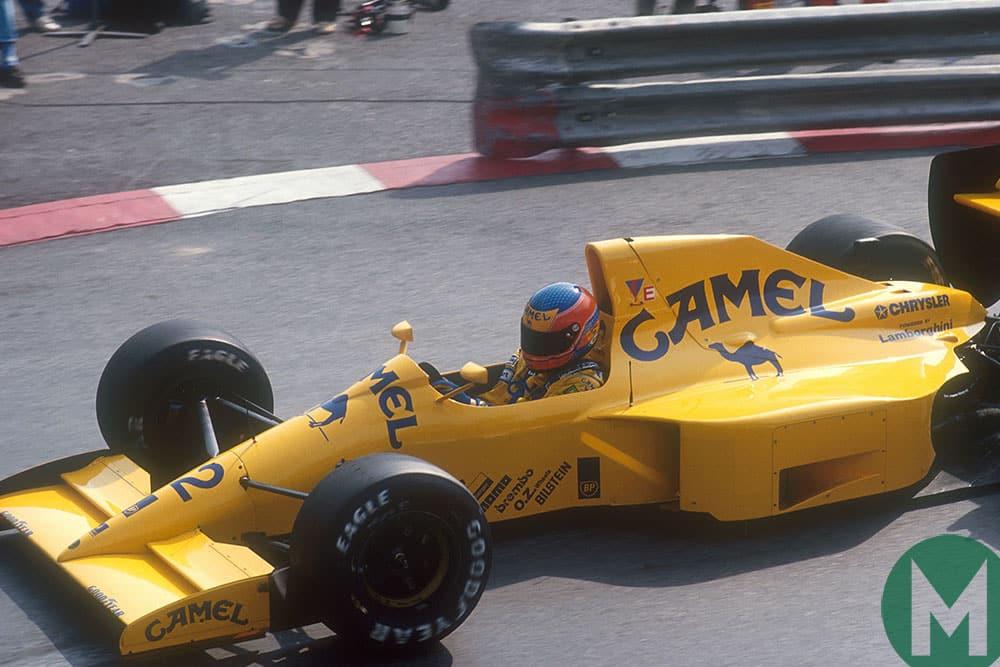 Martin Donnelly in F1 for Lotus, at the 1990 Monaco Grand Prix