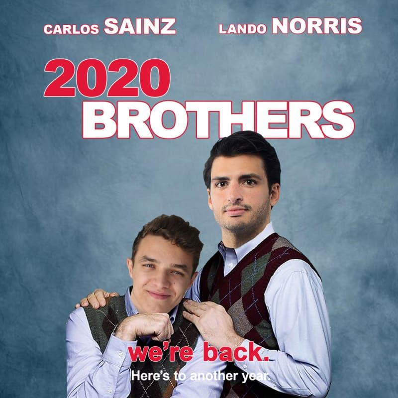 McLaren Twitter post Carlos Sainz and Lando Norris brothers