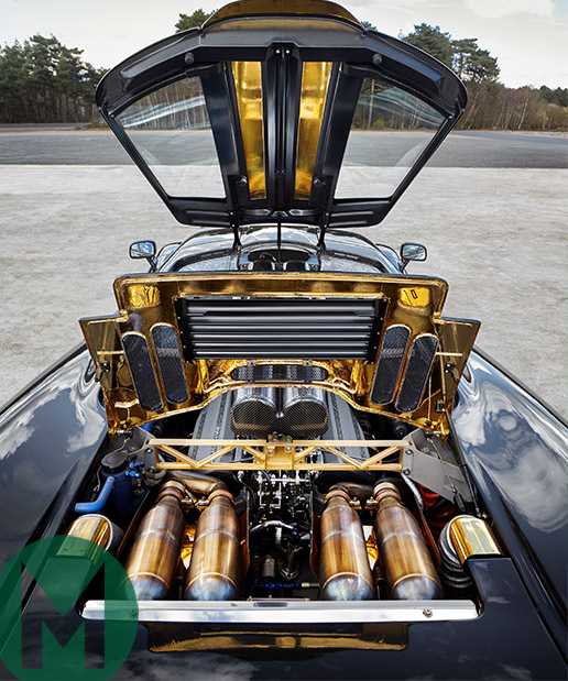 McLaren F1 gold-lined engine bay