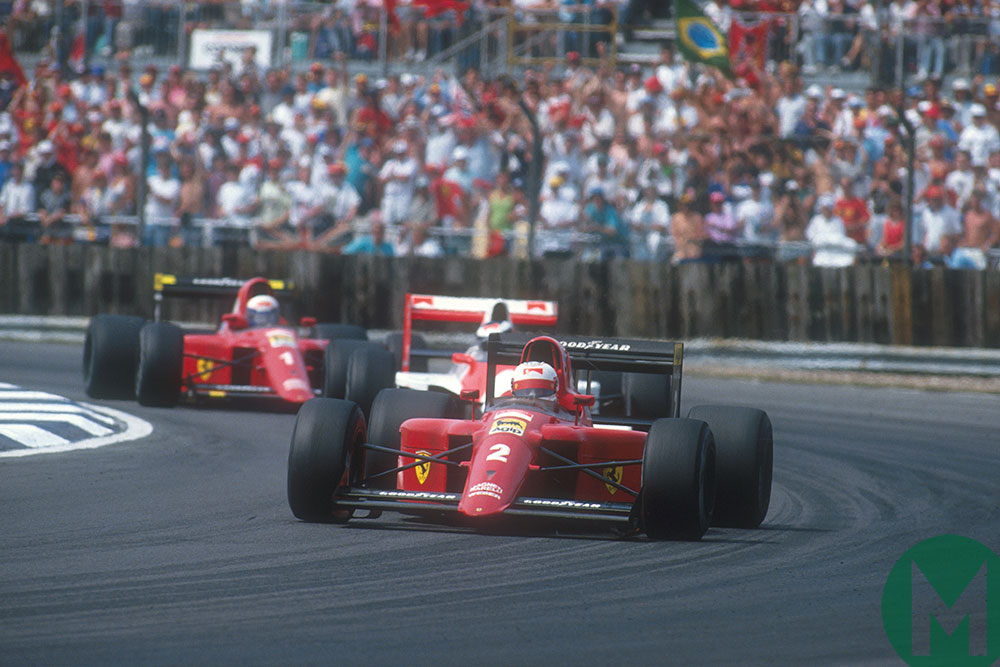 Nigel Mansell (briefly) retired after failing to win the 1990 British Grand Prix