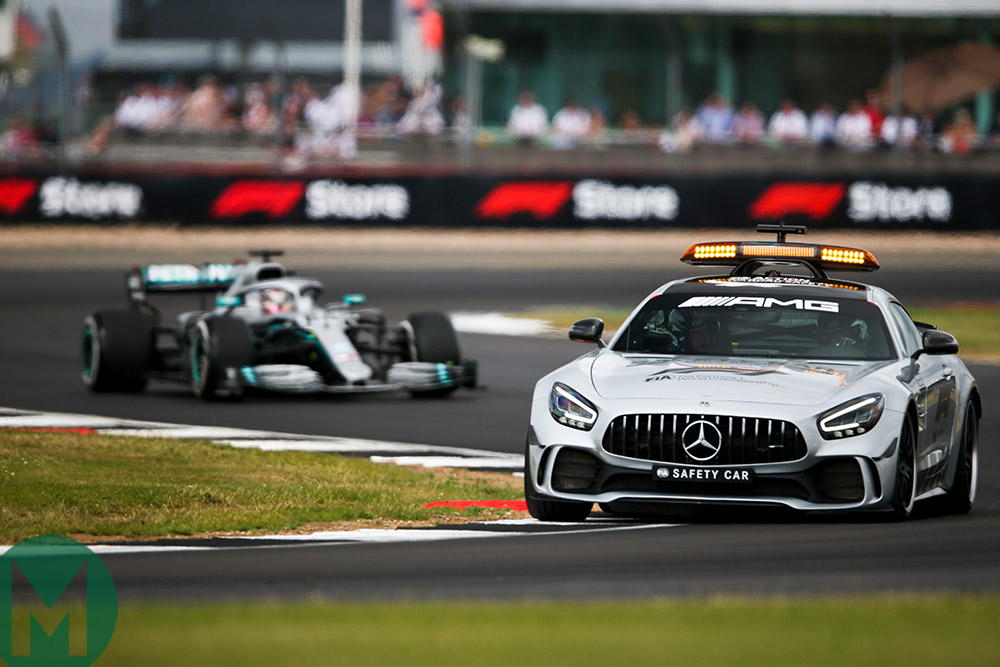 Safety car at the 2019 British Grand Prix