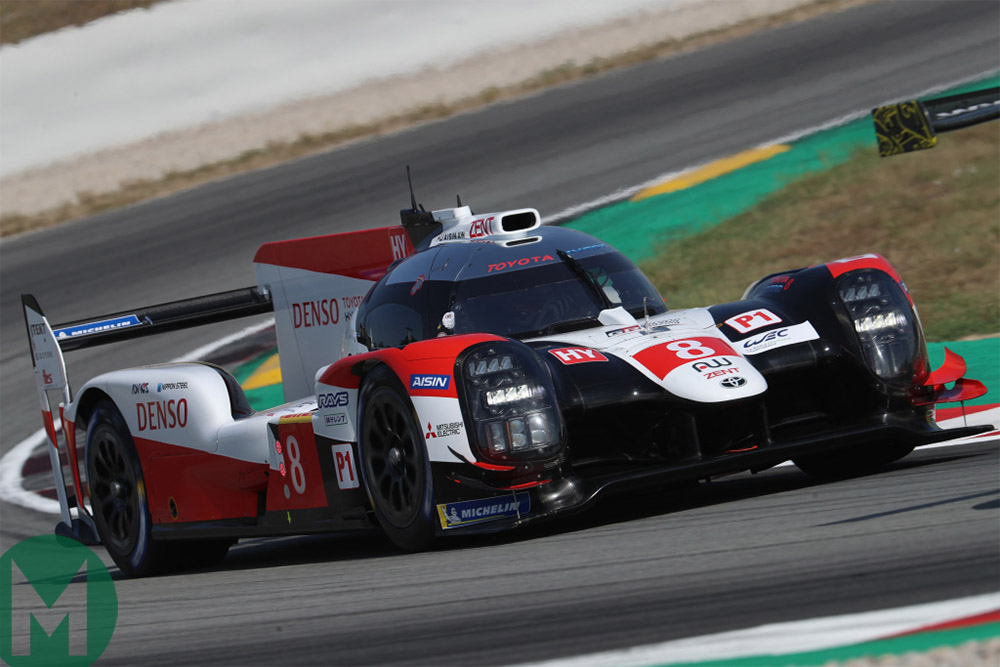 Toyota's TS050 testing at the Circuit de Catalunya
